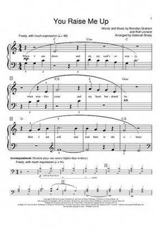 you raise me up josh groban piano sheet music | Josh Groban - You Raise Me Up Sheet Music - OnlineSheetMusic.com #violinforchildren