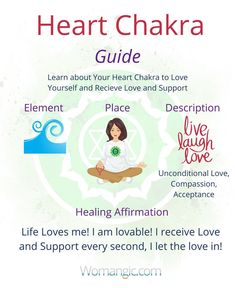 If you struggle with love life, learning about your heart chakra might be very helpful! This chakra is responsible for how much love we can experience and what is really important receive. Do you receive enough love? Chakra Balancing, Root, Sacral, Solar Plexus, Heart, Throat, Third Eye, Crown, Chakra meaning, Chakra affirmation, Chakra Mantra, Chakra Energy, Energy, Chakra articles, Chakra Healing, Chakra Cleanse, Chakra Illustration, Chakra Base.