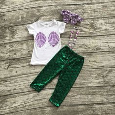 Mermaid Shell Pant Set