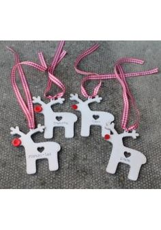 Wooden Reindeer Christmas Tree Decorations