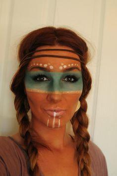 KL Artistry: Halloween: Native American Tribal makeup