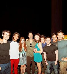 Dylan O'Brien, Tyler Posey, Holland Roden, Tyler Hoechlin, Crystal Reed, Daniel Sharman, Jeff Davis, Charlie and Max Carver