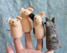 The 3 Little Pigs - Felt Finger Puppets