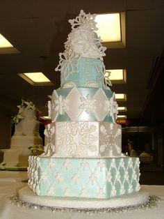 Southern Blue Celebrations: WINTER Wedding  CAKE❤️