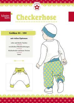 Checkerhose, Papierschnittmuster - farbenmix Online-Shop - Schnittmuster, Anleitungen zum Nähen