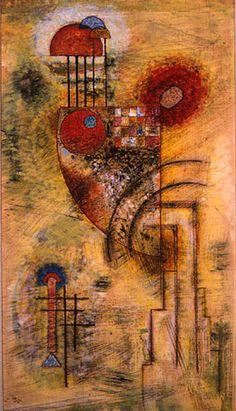 Kandinsky, Wassily - 1929 Strong (Portland Museum of Art, Maine, USA). Pablo Picasso, Kandinsky Art, Wassily Kandinsky Paintings, Henri Matisse, Abstract Expressionism, Abstract Art, Abstract Landscape, Social Art, Art Deco