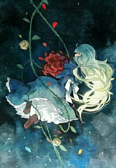 rose, anime girl, and dress image Rpg Maker, Ib Game, Game Art, Anime Angel, Ib And Garry, Scary Games, Rpg Horror Games, Baguio, Another Anime