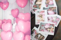 polaroid party moments | http://www.100layercake.com/blog/2013/02/12/french-inspired-purple-pink-bridal-shower/