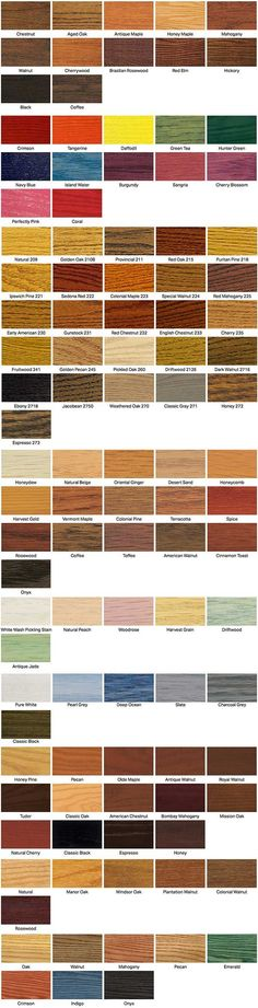wood floor stain colors from Minwax