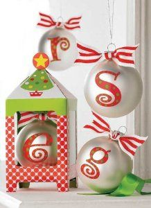 amazoncom initial personalized christmas ornament by mud pie letter a everything - Mud Pie Christmas Decor