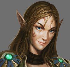 Female Elf NPC, from Might & Magic X Legacy.