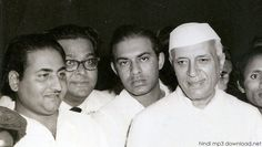 Mohammad Rafi with jawaharlal nehru http://hindimp3download.net/rafi.html