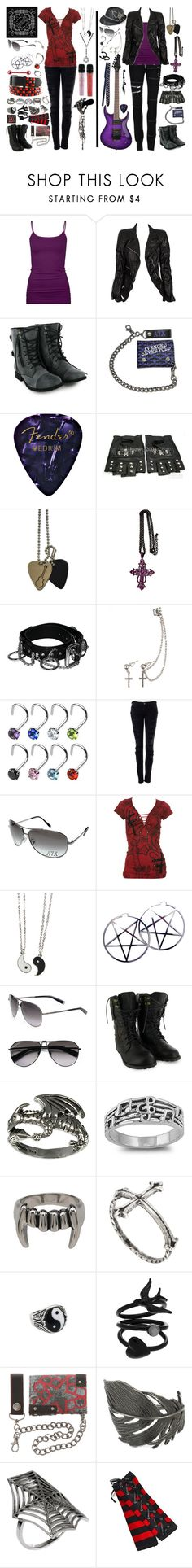 """""""At the rock show, you'll be right in the front row. Heart and soul, they both know. It's where you gotta be."""" by rukiakuchiki12341 ❤ liked on Polyvore featuring Naoto, Full Tilt, Marc Jacobs, CO, Swarovski, Club Manhattan, Current/Elliott, Affliction, Kill Star and Dsquared2"""