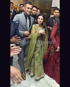 MS Dhoni and Sakshi Dhoni arrive at Yuvi Hazel's wedding reception last night @InstantBollywood ❤❤❤