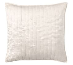 Silk/Cotton Channel Two-Tone Sham, Euro, Ivory at Pottery Barn Cheap Bedding Sets, Bedding Sets Online, Free Interior Design, Interior Design Services, Ivory Bedding, Turquoise Furniture, Textured Bedding, Organic Duvet Covers, Matching Bedding And Curtains