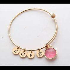Love Charm Bracelet 24k Gold Filled