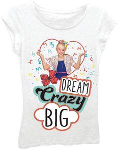 Asstd National Brand JoJo Siwa Girls' Dream Crazy Big Short Sleeve Graphic T-Shirt Jojo Siwa Bows, Jojo Bows, Jojo Siwa Shirts, Jojo Siwa Birthday, 10 Birthday, Princess Birthday, Birthday Ideas, Jojo Siwa Outfits, Nickelodeon