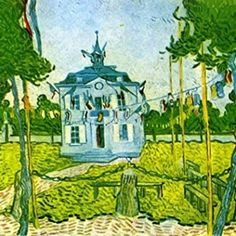 Vincent van Gogh — Auvers Town Hall in 14 July 1890