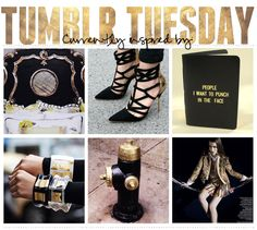 Tumblr-Tuesday creative design inspiration gold and black