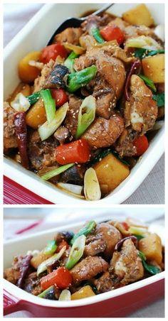 Slow Cooker Korean Chicken (Dakjjim)