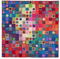 "LOSING MY MARBLES Quilt Kit Quilts In Italy by SewColorfulQuilts 3.5"" finished circles  59.5""x 59.5""  17 x 17 blocks  maybe 3"" circles?"