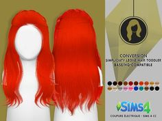 Coupure Electrique: Simpliciaty`s Leone hair retextured for toddlers - Sims 4 Hairs - http://sims4hairs.com/coupure-electrique-simpliciatys-leone-hair-retextured-for-toddlers/