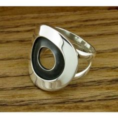Oxidised Inner Circle Silver Ring | Handmade Mexican jewellery from Silver…