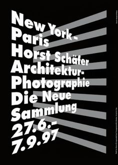 Pierre Mendell, 1997 - Horst Schafer poster (Type Creating Illusion of Space)