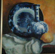 Blue on blue.Oil on canvas. Paintings, Oil, Canvas, Blue, Tela, Paint, Painting Art, Canvases, Painting