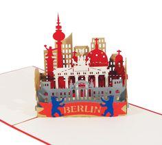 Pop-Up-Karten - Berlin Skyline - 3D Karte / Pop-Up / Klappkarte - ein Designerstück von 3D-Kartenwelt bei DaWanda