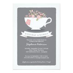 Sweet Teacup Pink Floral Bridal Shower Invitation#bridalshowerinvitations #watercolorinvitations #rusticinvitations #bridalshowerideas #springweddings #summerweddings #winterweddings #fallweddings #bridalshower