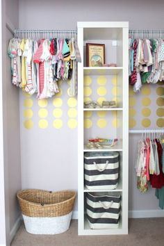 11. Kid's #Closet - 33 Ikea Hacks Anyone Can do ... → DIY #Hacks Closet organization - could use this in the laundry room