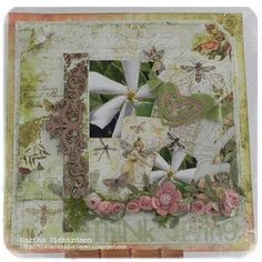 Layout by Martha Richardson, using Butterfly Garden Papers (Gypsy Chick for Pink Paislee).