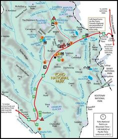 Akamina Parkway Map Waterton Lakes National Park Map Vacation