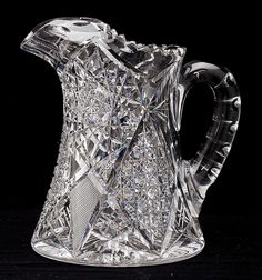 Buy online, view images and see past prices for Brilliant Cut Glass Water Pitcher. Invaluable is the world's largest marketplace for art, antiques, and collectibles. Crystal Glassware, Crystal Decor, Glass Pitchers, Glass Dishes, Glass Paperweights, Glass Vase, Crystal Holder, Flint Glass, Vintage Glassware