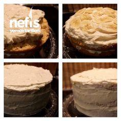Pastane Tadında Muzlu Pasta Pie, Desserts, Food, Pinkie Pie, Tailgate Desserts, Deserts, Fruit Flan, Essen, Pies
