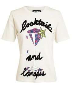 Cocktails and Canapes Cotton T-Shirt Cocktails And Canapes, Henry Holland, House Of Holland, Spring Fashion, Dress Up, My Style, Mens Tops, T Shirt, Cotton