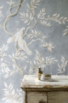 Doves wallpaper | created by Flora Roberts (http://www.wallflowerpainting.com/) for Lewis & Wood (http://www.lewisandwood.co.uk/products/view/doves-1)