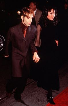 Prince and Mayte Garcia - rare Gold Experience era photo, 1994.
