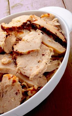This Slow Cooker Everything Chicken is simple and goes with everything!