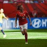 Fabienne Humm of Switzerland celebrates after scoring