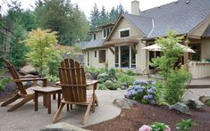 Log and Rustic Home Landscaping Basics  from houseplansandmore.com