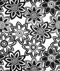 Golding Full Bloom Black Fabric (onlinefabricstore)