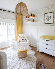 What a dream nursery! Loving the pops of mustard! @jillian.harris