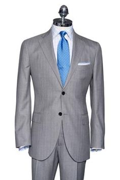 silk suit....classy and sharp. different from your traditional black suit