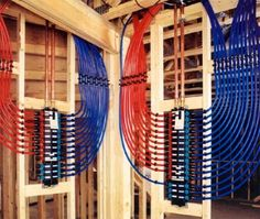 PEX Manifold Plumbing System - maintains constant pressure and flow through the entire house.