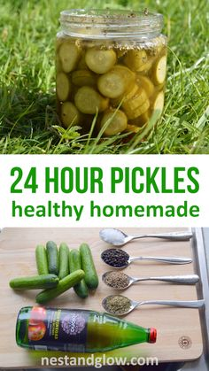 Easy homemade sweet can be made in 24 hours. If you like pickles try this easy recipe for healthy homemade pickles using apple cider vinegar. All the flavour of pickles but with the nutrition of fresh cucumbers. Can be made with any sized cucumber. Healthy Recipes, Healthy Recipe Videos, Healthy Chef, Kefir, Homemade Sweets, Cucumber Recipes, Homemade Pickles, Pickles, Pickling