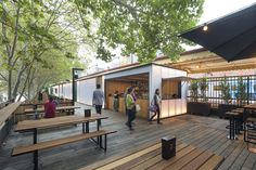 Idea Arbory Bar & Eatery by Jackson Clements Burrows in Melbourne, Australia Container Restaurant, Container Bar, Cafe Shop, Cafe Bar, Outdoor Restaurant, Restaurant Bar, Melbourne, Food Park, Airlie Beach