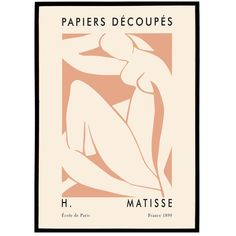 High quality poster, printed on premium matte paper for sharp, high-quality images and super vibrant colors. Size of the x 70 cmIt will fit standard picture frames sold by most stor. Matisse Prints, Matisse Cutouts, Matisse Art, Henri Matisse, Paris France, Artwork Prints, Framed Prints, Exhibition Poster, Cool Posters