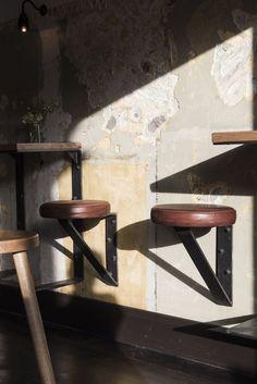 floating bar stools | The Nelson,© Tom Blachford